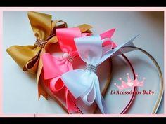 Líbia Queiroz-- - LAÇO VITORIA EM PÉ NA TIARA --- PAP FÁCIL - YouTube Diy Hair Bows, Ribbon Hair, Homemade Bows, Crochet Tutu, Bow Tutorial, Crystal Wedding, Wedding Hair Accessories, Diy Hairstyles, Headbands