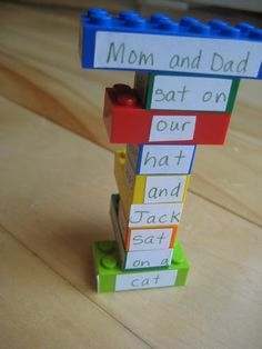 Fun Activity For Kids -  Legos Make Poetry Fun