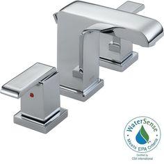 Delta Dryden 3551LF Double Handle Widespread Bathroom Sink Faucet   Bathroom  Sink Faucets At Hayneedle | Bathroom Plumbing | Pinterest | Bathroom Sink  ...