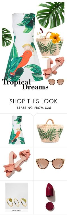 """🌴"" by gabyidc ❤ liked on Polyvore featuring Alice + Olivia, Loeffler Randall, Bill Skinner, NARS Cosmetics and Vinca"