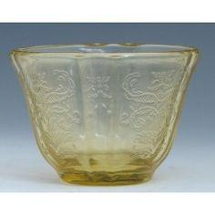 Federal Madrid Depression Glass Amber Gelatin/Jello Mold