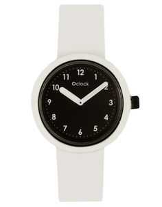 O'Clock Analogue Number Silicone White Watch