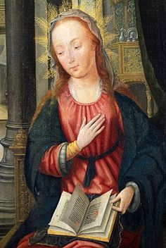 Triptych of The Annunciation. Jean Bellegambe, Hermitage Museum, St. Petersburg, Russia, Europe