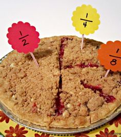 Use some PIE to teach simple math fractions to your kids! B-InspiredMama.com
