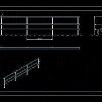 Aluminum Railing (dwg - Autocad drawing ) - Handrails
