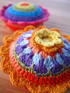 If I ever made pincushions, this is what they'd look like.