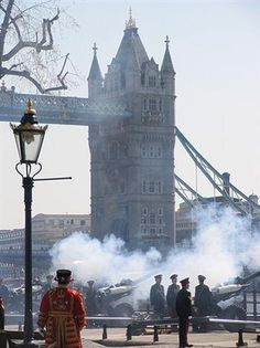 41 Gun Salutes at the Tower of London for the new Royal Prince.