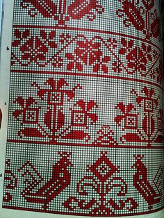 Traditional Romanian embroidery stitches and styles. Cutwork Embroidery, Modern Embroidery, Embroidery Stitches, Embroidery Patterns, Cross Stitch Bird, Cross Stitch Borders, Cross Stitching, Cross Stitch Patterns, Tribal Patterns