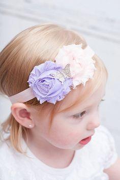 Butterfly Headband Shabby chic Headband Baby por BabyBloomzBoutique