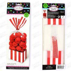 Bolsa Cuadrada Candy Buffet Roja. Eventos y Fiestas