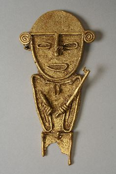 Male Figure (tunjo) Colombian Art, Face Images, Mesoamerican, Male Figure, Ancient Jewelry, Ancient Aliens, Ancient Artifacts, 16th Century, Metropolitan Museum