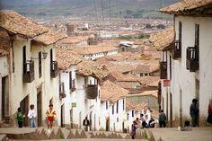This street up towards the fortaleza de Sacsayhuaman.
