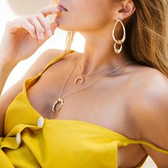 Slay everyday with the hottest jewellery range  Feat. 'Edee Earrings - Gold' and the 'Heidi Necklace - Gold'