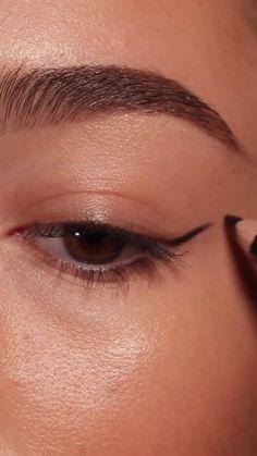 Edgy Makeup, Eye Makeup Art, Eyebrow Makeup, Skin Makeup, Makeup Eye Looks, Eyeshadow Makeup, Brown Makeup Looks, Makeup Tutorial Eyeliner, Makeup Looks Tutorial