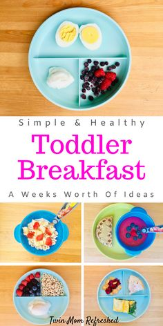 Toddler meals 655555289497464310 - Easy toddler breakfast food ideas for the week. These breakfast meals are quick to make and good for busy mornings with little kids and toddlers to make getting out the door easier! Source by twinmomrefreshed Healthy Toddler Breakfast, Healthy Toddler Meals, Toddler Lunches, Quick And Easy Breakfast, Breakfast For Kids, Healthy Kids, Kids Meals, Breakfast Recipes, Toddler Food