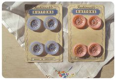 buttons on card #vintagebuttons