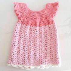 De 8 bedste billeder fra baby a kjole | Hæklet baby tøj