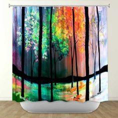 Shower Curtain from DiaNoche Designs by Artist Aja Ann Home Décor and Bathroom Ideas - The Four Seasons