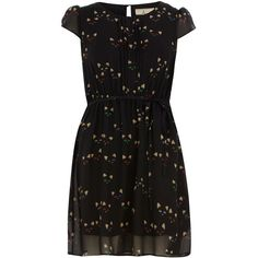 Petite cat-eye print dress ($49) ❤ liked on Polyvore