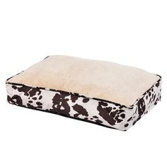 Fleece Cowhide Dog Bed