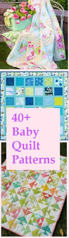 40+ Baby Quilt Patterns. Sew a snuggly baby blanket for boys and girls with gorgeous DIY baby quilt ideas. Choose from a wide selection of quilting patterns.