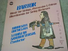 "Bartok: Divertimento For String Orchestra / Minnesota Orchestra / Skrowaczewski / 12"" Vinyl LP Record #ClassicalMusic"