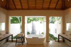 Beach Front Villa bath room, Hilton Seychelles Labriz Resort & Spa