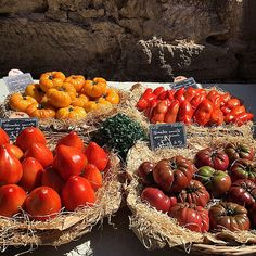 French tomatoes in the market