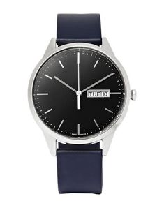 Uniform Wares Day-date Stainless Steel And Rubber Watch In Navy Uniform Wares, Mens Designer Watches, Rubber Watches, Watch Brands, Stainless Steel Case, Watches For Men, Dark Blue, Man Shop, Mens Fashion