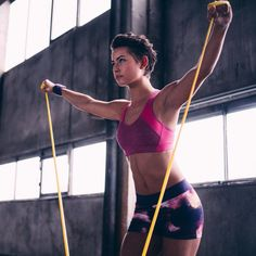Get your whole body working with these resistance band exercises.