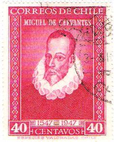 Literature on Stamps: Miguel de Cervantes