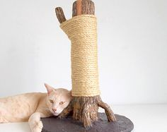 Large Scratching Tree - A totally unique scratching post for cats