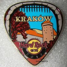 Hard Rock Cafe Krakow 2012 Postcard Guitar Pick Pin Le 200 | eBay