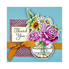 Stampendous - Cling Stamp Bowl Bouquet - Scrapbooking Made Simple