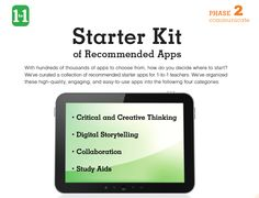 Share this curated kit of recommended apps and websites to inspire teaching with technology.