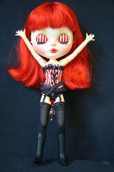 OOAK Custom Art Blythe Doll - CORAL -Customised by Barbara | eBay