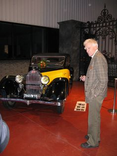 "Book presentation Ard op de Weegh | Michel Dovaz with one of his [now restored] cars. Contrary to myths sparked by A.Q. ""Sleeping Beauties"" photographs (and a German journalist, who's name will not be mentioned), Dovaz preserved the cars well - and in a time when people did not care... Simply slaughtering like cars with ""body swaps"" and non-authentic ""restorations""."