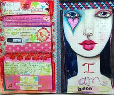 Journal page using my Suzi Blu GYPSY FACE stamp!