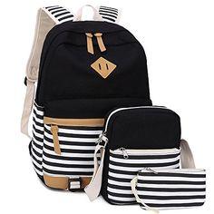 15 Killer Backpacks You Need For Back To School Canvas Students Backpack Casual School Bookbag for Teens Girls Boys Cute Teen Backpacks, Cute Backpacks For School, Cute School Bags, Stylish Backpacks, School Bags For Girls, Girls Bags, School Book Bags, Leather Backpacks, Leather Bags