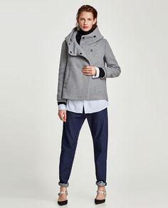 Bilde 1 fra KÅPE MED OMSLAGSKRAGE fra Zara