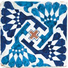 A Multan pottery tile, Pakistan, late century, by Adam Asar, No Art Print by Asar Studios - X-Small Islamic Tiles, Islamic Art, Decoration, Art Decor, Antique Tiles, Pakistan, Pottery Designs, Decorative Tile, Tile Art