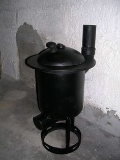 Wood stove from propane tank.