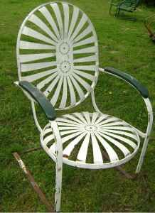 Garden Furniture Vintage vintage metal chairs outdoor | retro metal glider lawn chair