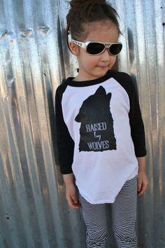 Raised by Wolves screenprint T Shirt  Kids T Shirt  by SavageSeeds, $23.00