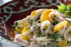 Salad with oranges and onions [greek] Orange Salad, Yummy Snacks, Potato Salad, Dishes, Chicken, Meat, Cooking, Breakfast, Ethnic Recipes
