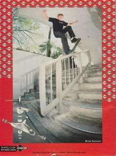brian sumner, but looks just like tony hawk if he skated street..initially i thought it was him