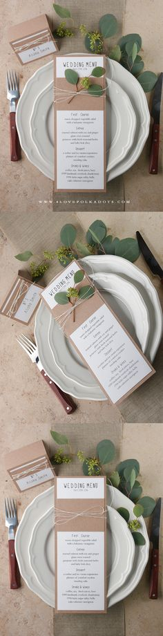 Wedding Menu Card made from Eco Papers ! #bohemian #bohowedding #weddingstationery