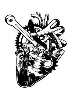 Blackheart tattoo design by Matt Bibby, via Behance