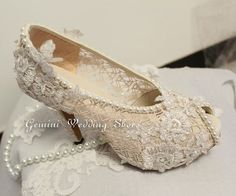 Open toe bling wedding shoes ivory by GeminiSilverJewelry on Etsy, $199.99