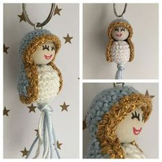 Handmade by Esther Holiday Crafts, Christmas Diy, Christmas Decorations, Christmas Ornaments, Christmas Crochet Patterns, Christmas Knitting, Making Wooden Toys, Love Crochet, Amigurumi Doll